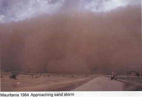 Mauritania 1984 - Approaching sand storm