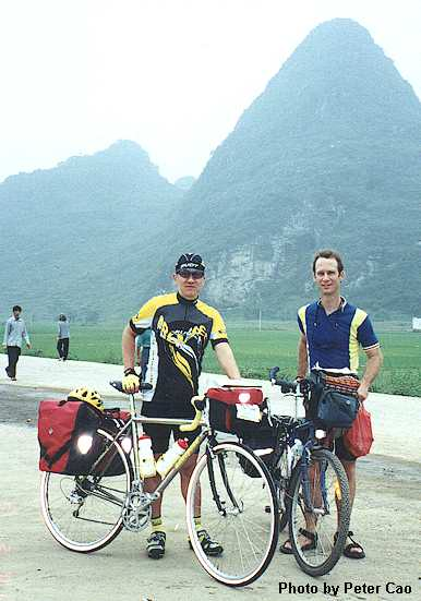 Two cyclists in Little Guilin